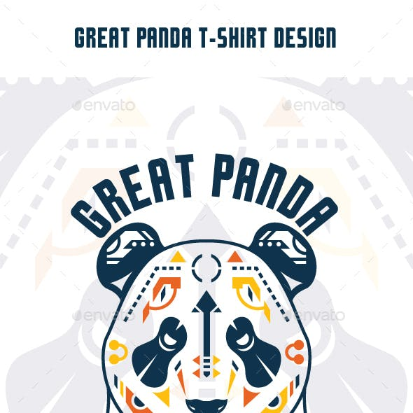 Great Panda T-Shirt Design