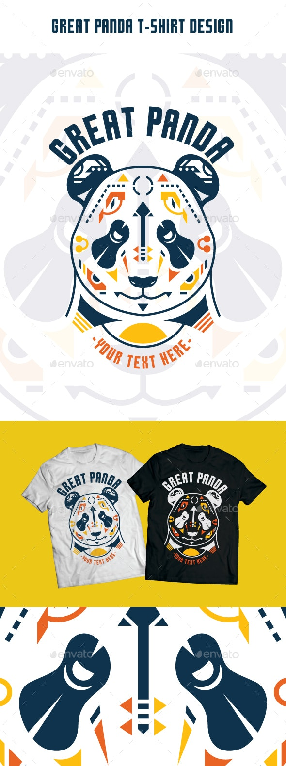 Great Panda T-Shirt Design - T-Shirts