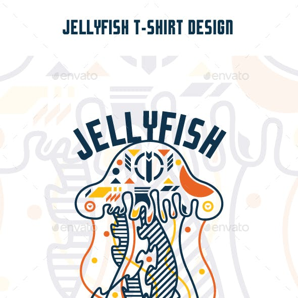 Jellyfish T-Shirt Design