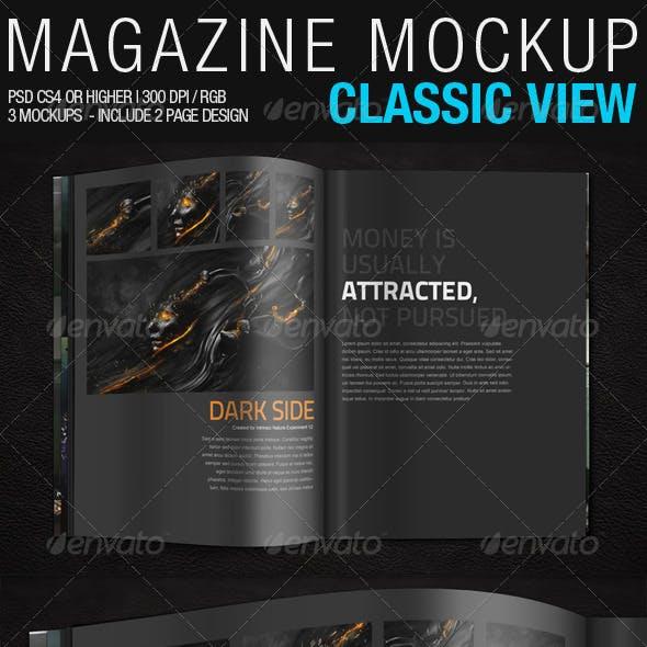Magazine Mockup Classic View