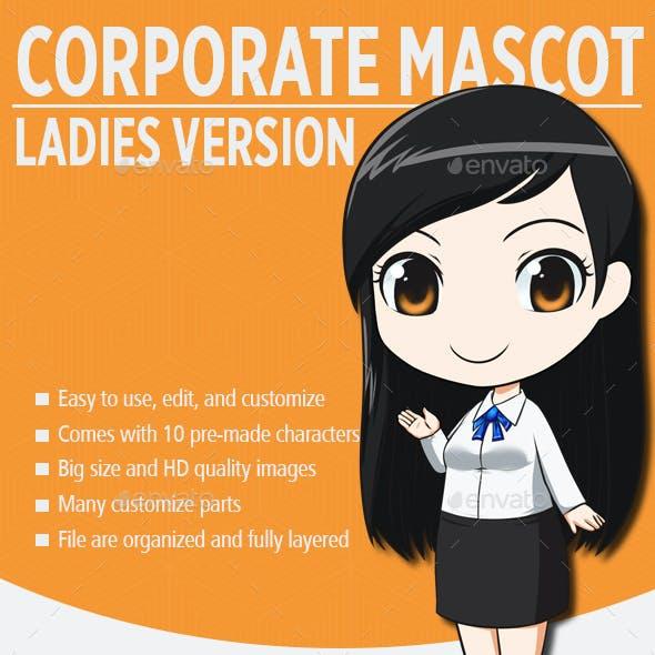 Female Corporate Mascot