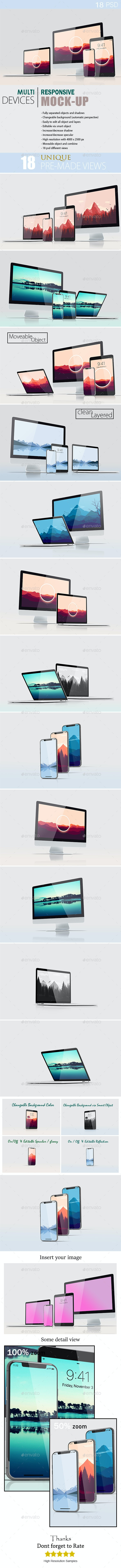 Multi Devices Responsive Mockup - Multiple Displays