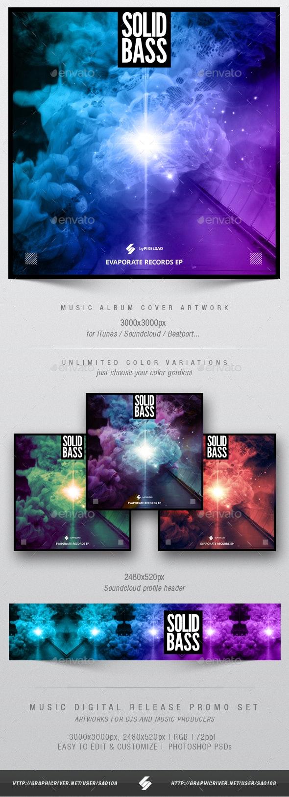 Solid Bass - Music Album Cover Artwork Template - Miscellaneous Social Media