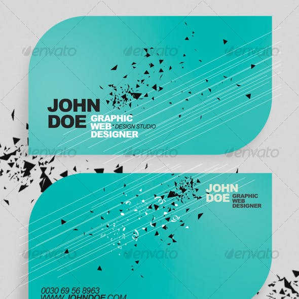 Rounded Minimalistic Business Card