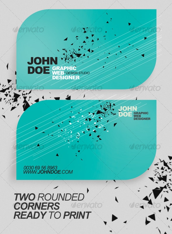 Rounded Minimalistic Business Card - Creative Business Cards