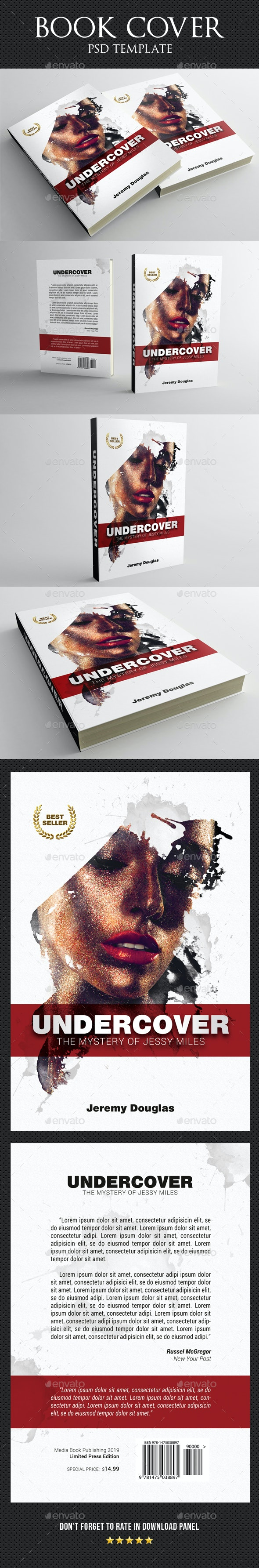 Undercover Book Cover Template - Miscellaneous Print Templates