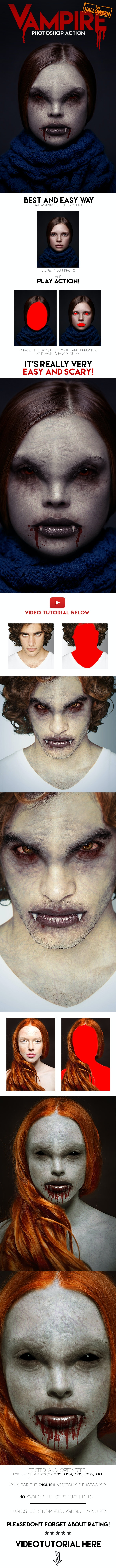 Vampire Photoshop Action - Photo Effects Actions