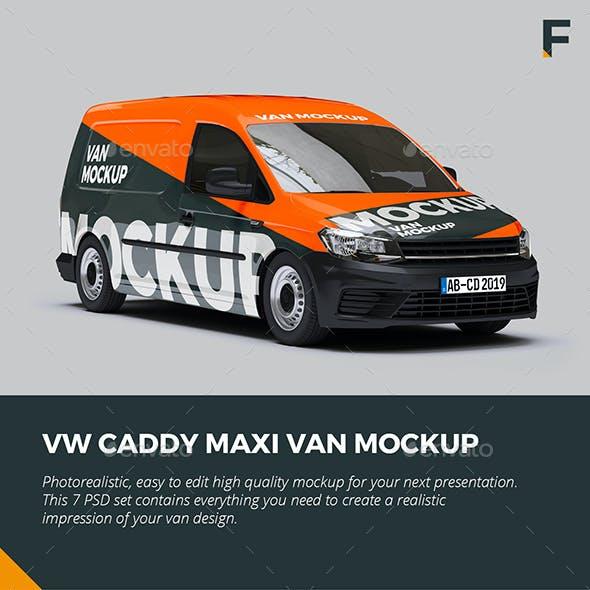 VW Caddy Van Mock up