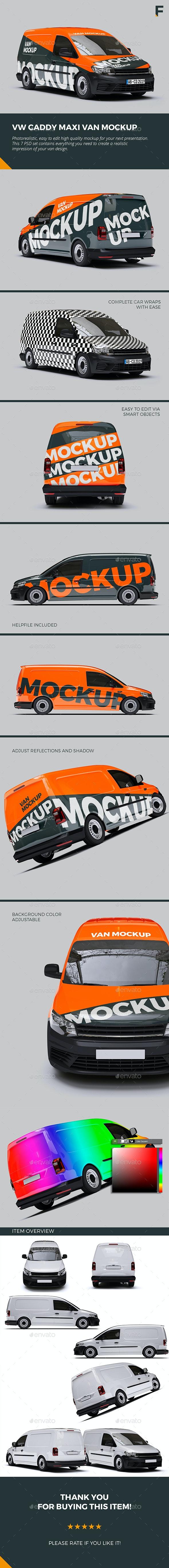 VW Caddy Van Mock up - Vehicle Wraps Print