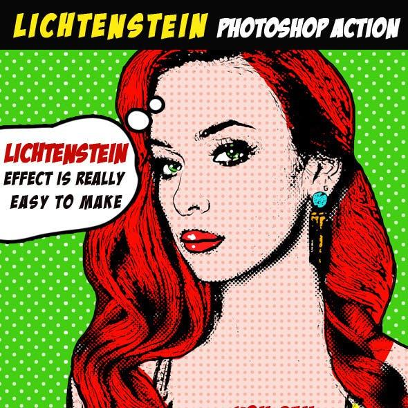 Pop Art Photoshop Action (Lichtenstein Effect)