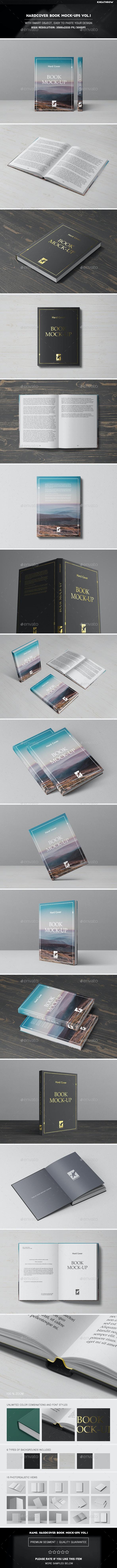 Hardcover Book Mock-Ups Vol.1 - Books Print