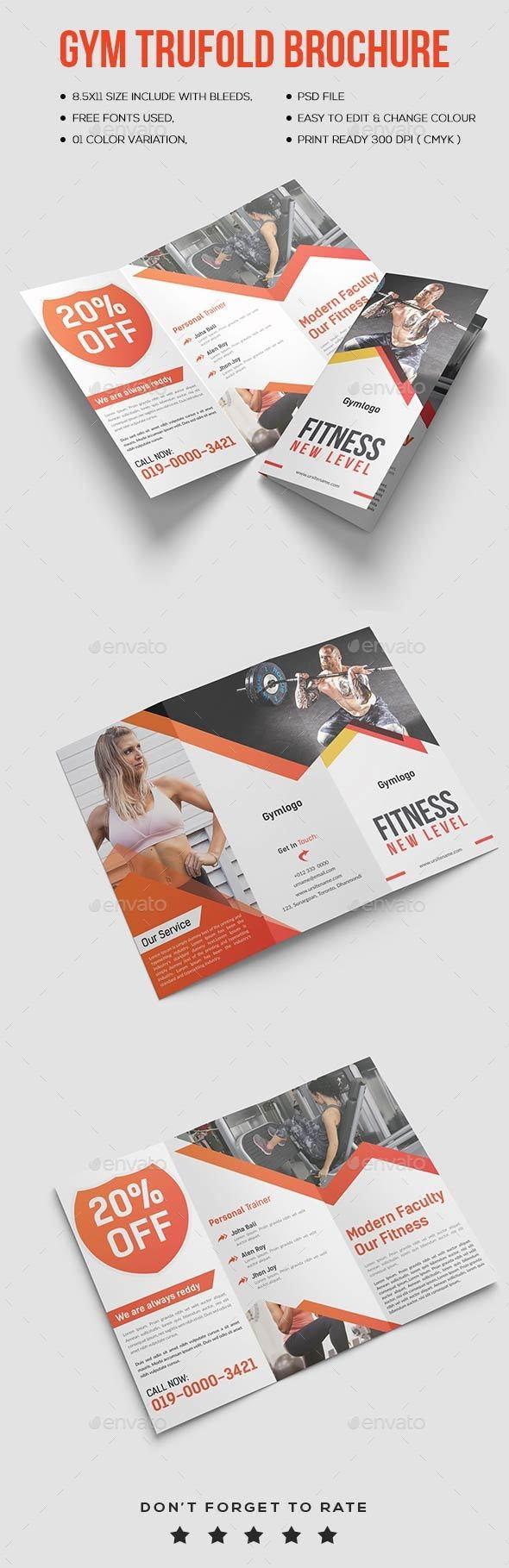 Gym TriFold Brochure - Portfolio Brochures