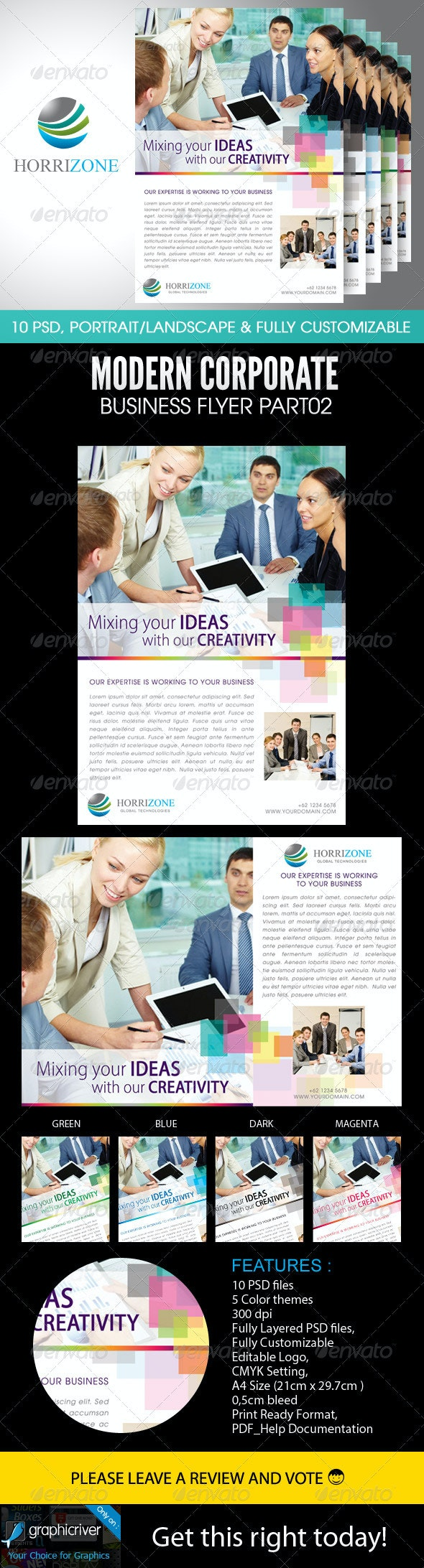 Modern Corporate Business Flyer Part02 - Corporate Flyers