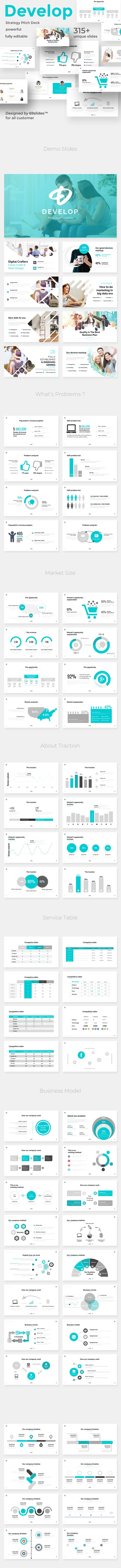 Develop Strategy Pitch Deck Powerpoint Template - Business PowerPoint Templates