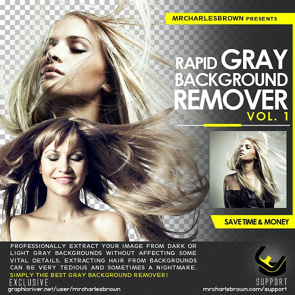 Rapid Gray Background Remover