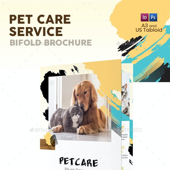 Pet Care Bifold / Halffold Brochure 8