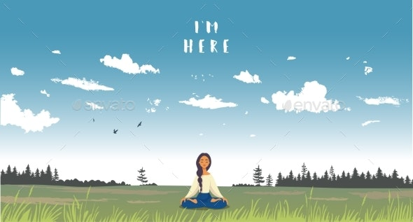 Im Here Meditation - People Characters