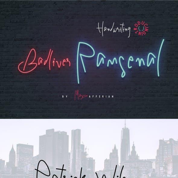 Badliver Ramsenal Handwriting Font