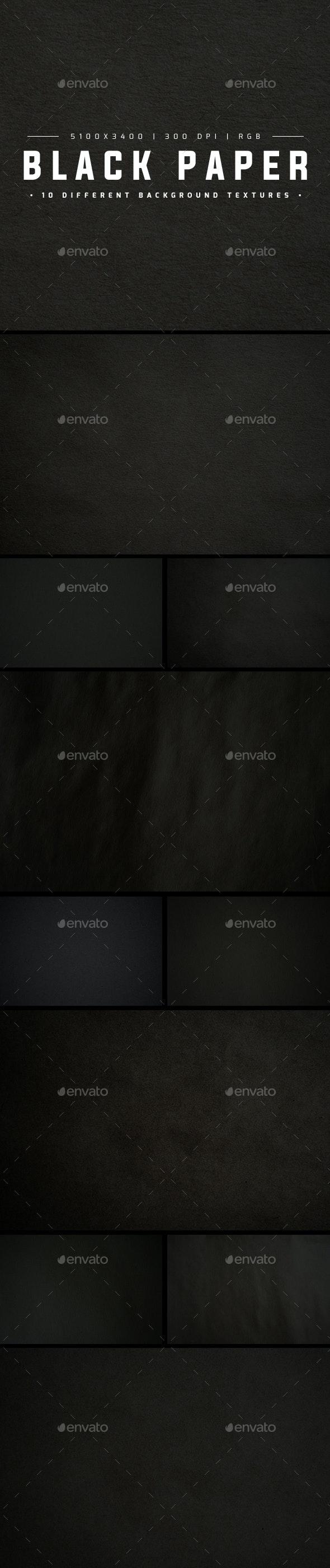 Black Paper - Paper Textures