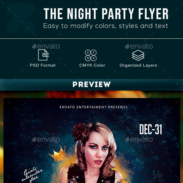 The Night Party Flyer