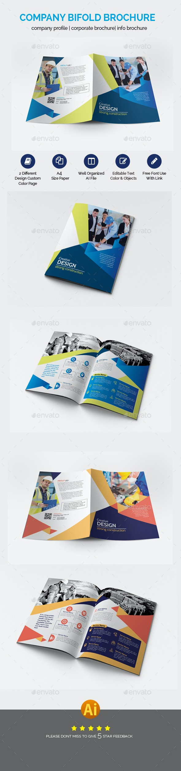 Business Bifold Brochure Template - Brochures Print Templates