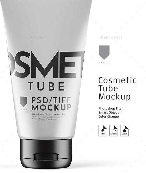 Cosmetic Tube Mockup Matte - Product Mock-Ups Graphics