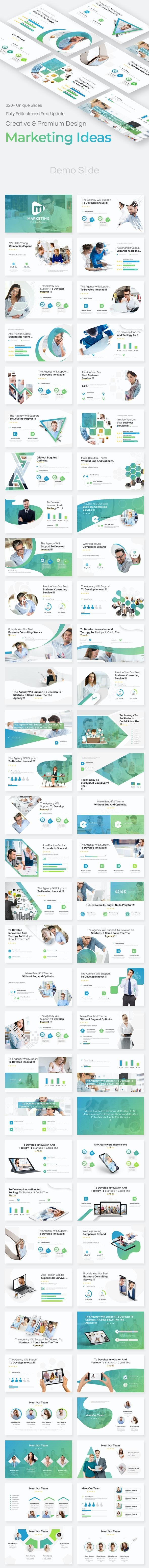 Marketing Ideas Pitch Deck Powerpoint Template - Business PowerPoint Templates