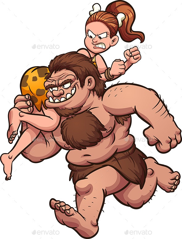 Caveman Kidnapping - People Characters