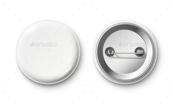 Blank Button Badge - Miscellaneous Vectors