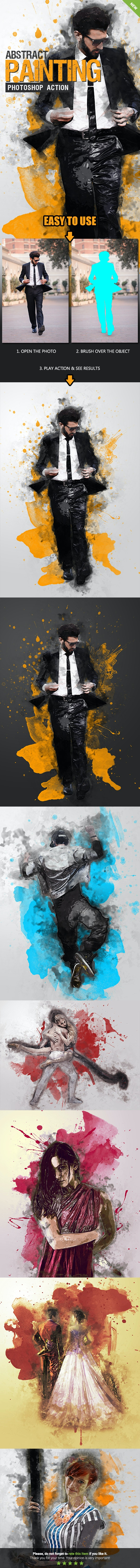 Abstract Painting Photoshop Action by SmartestMind