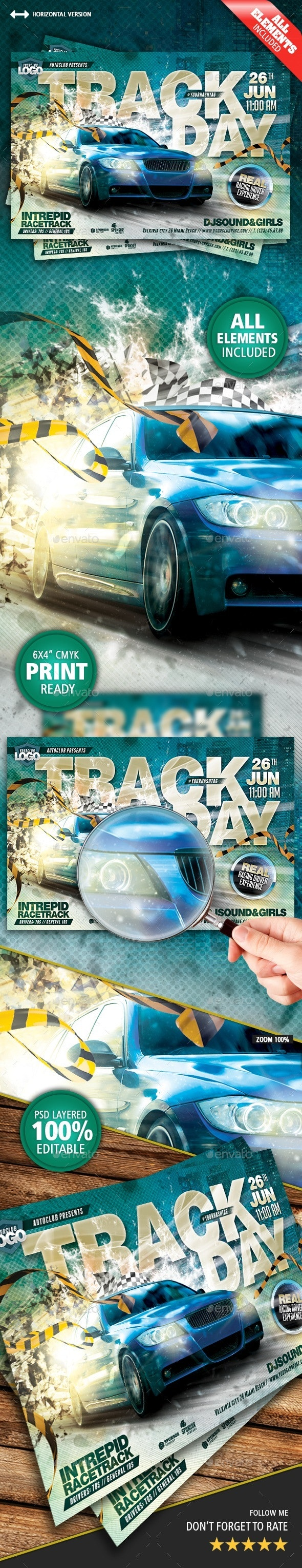 Track Day Flyer - Events Flyers