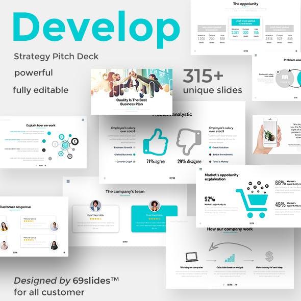 Develop Strategy Pitch Deck Keynote Template