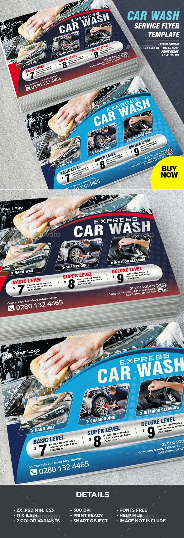 Car Wash Business Flyer - Corporate Flyers