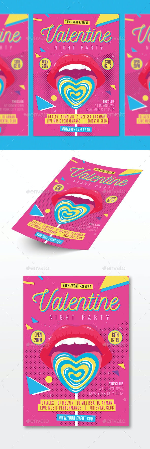 Valentine's Party - Events Flyers