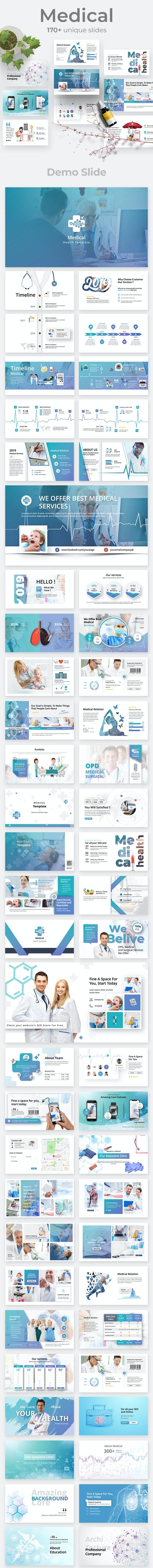 Medical & Healthy Google Slide Template - Google Slides Presentation Templates