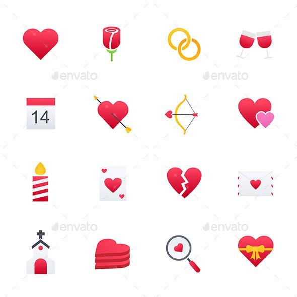 Happy Valentine Day - Icons