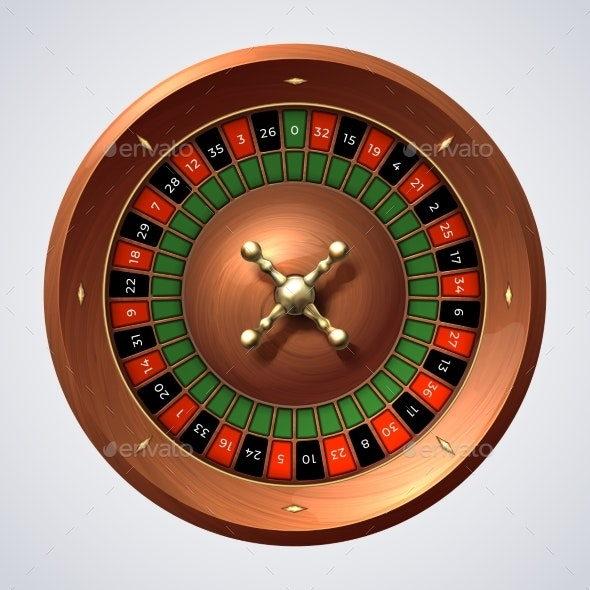 Casino Roulette Wheel - Man-made Objects Objects