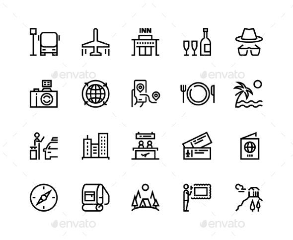 Travel Line Icons - Travel Conceptual