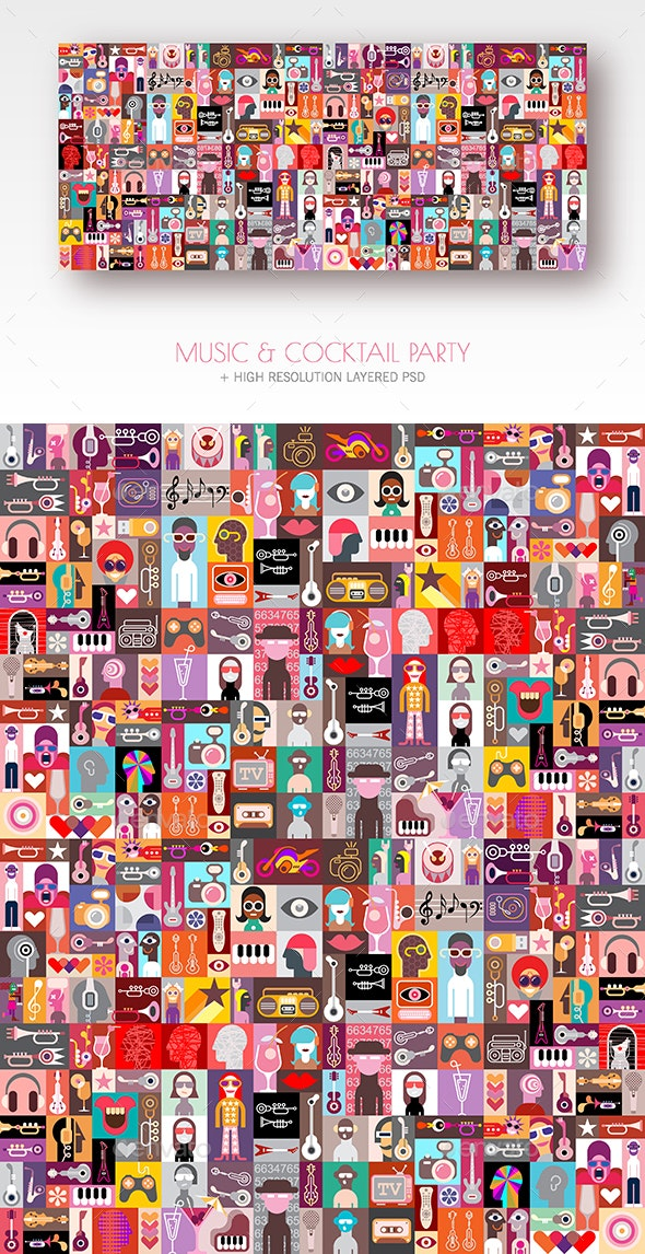 Music & Cocktail Party - Abstract Conceptual