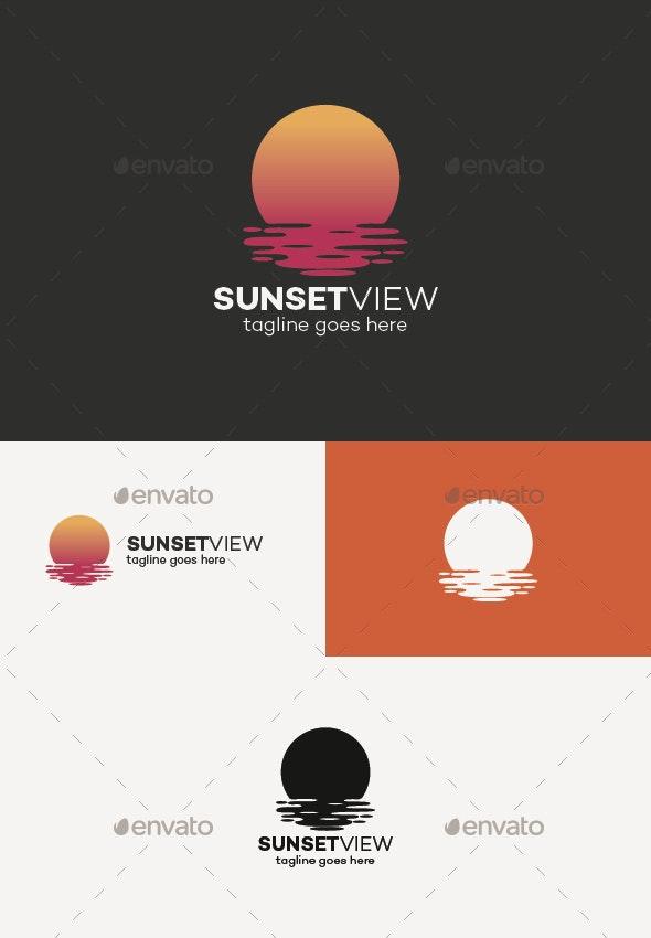 Sunset View Logo - Nature Logo Templates