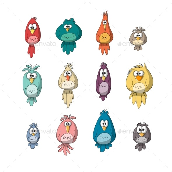 Collection of Birds - Animals Characters