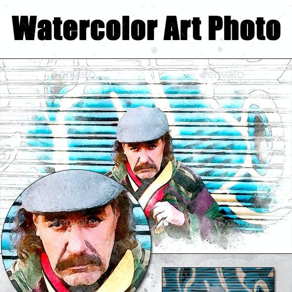 Watercolor Art Photo Frame