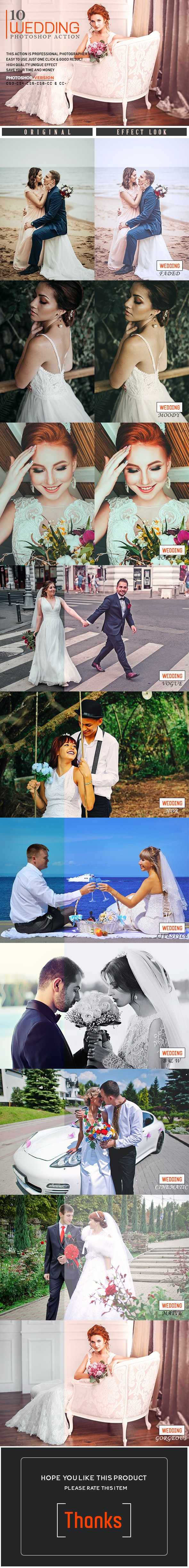 10 Wedding Photoshop Action - Photo Effects Actions