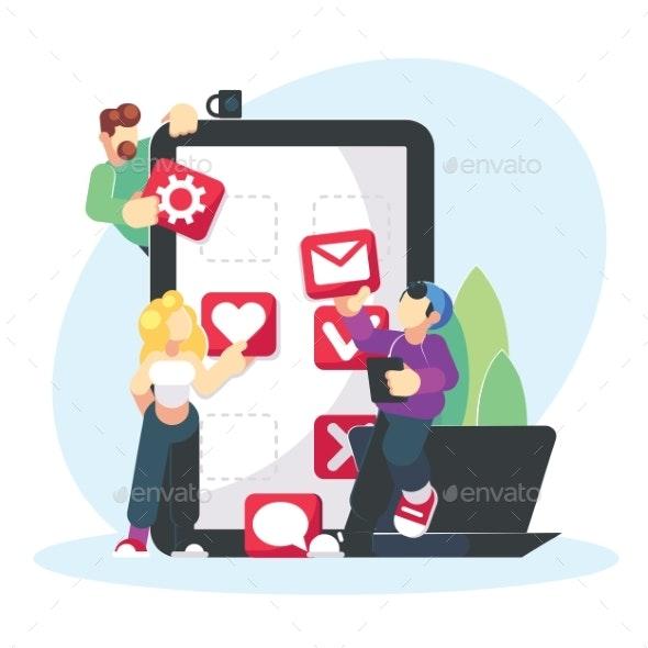 Mobile Application Development Creative Design - Concepts Business