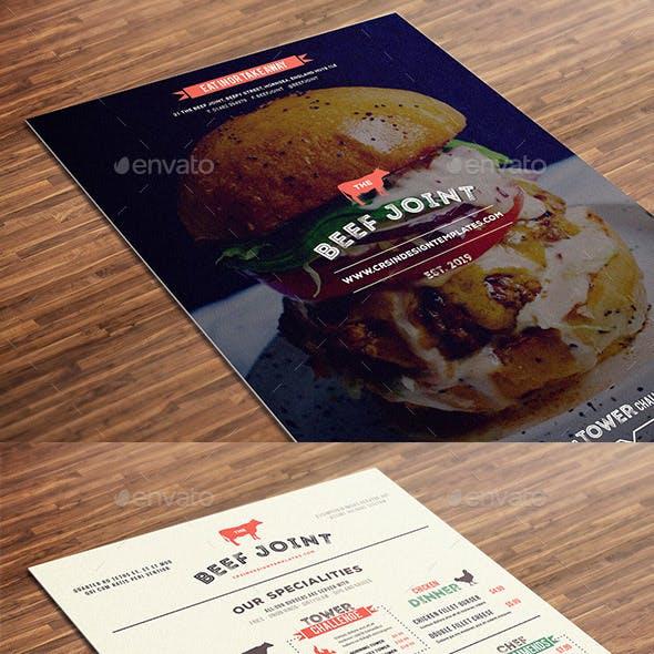 Burger Restaurant Menu