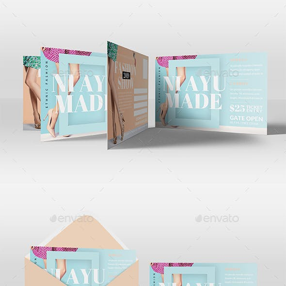 Fashion Design Promotion PostCard
