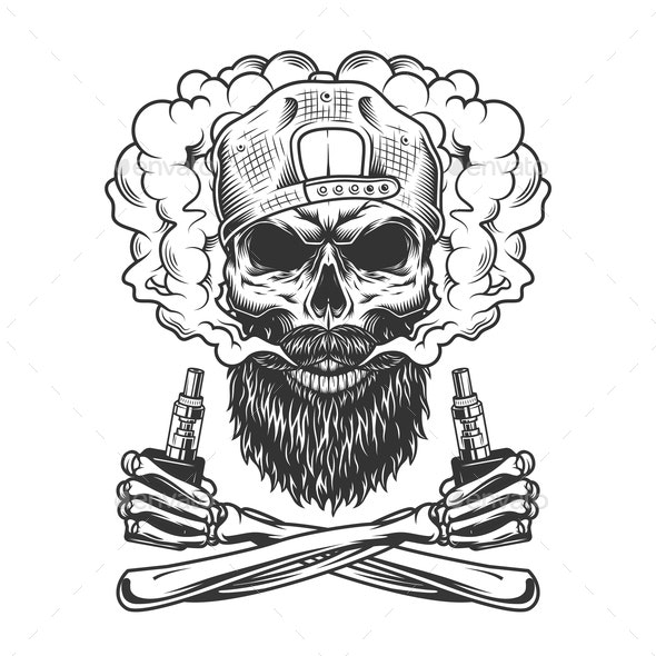 Bearded Skull - Miscellaneous Vectors