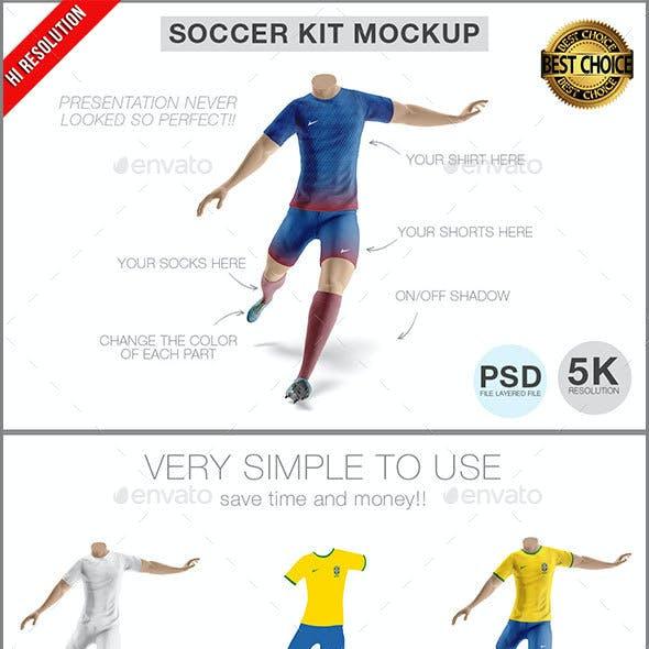 Soccer Team Kit Mockup