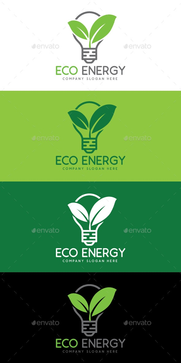 Eco and Green Energy Logo Template - Nature Logo Templates
