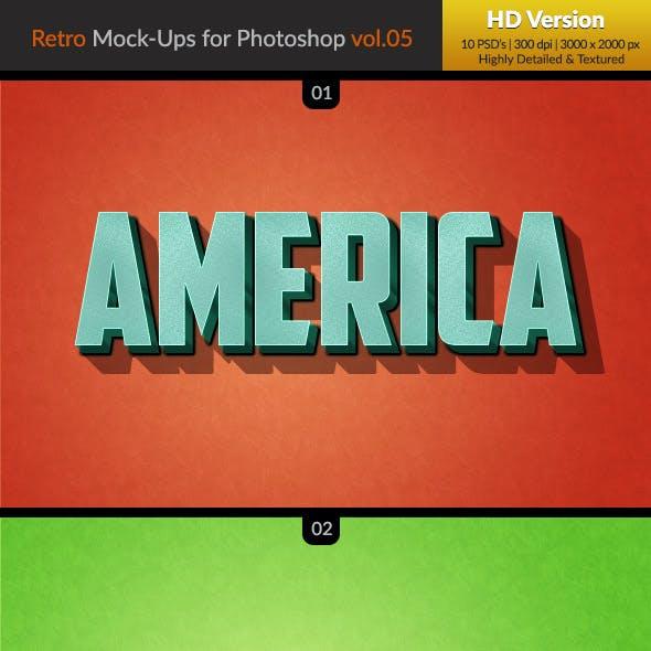 10 Retro Mock-Ups vol. 05